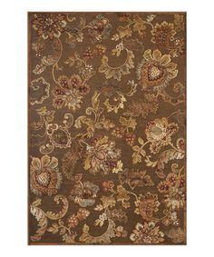 Another great find on #zulily! Brown & Burgundy Fulton Chenille-Blend Rug #zulilyfinds