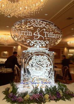 Wedding Ice Sculptures: By Art Below Zero Ice Sculpture Wedding, Snow Sculptures, Metal Sculptures, Wood Sculpture, Bronze Sculpture, Ice Luge, Ice Art, Winter Wonderland Wedding, Ice Ice Baby
