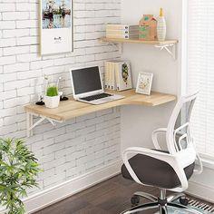 Small L Shaped Desk, Small Corner Desk, Corner Wall, Corner Office, Ikea L Shaped Desk, Ikea Corner Desk, Floating Corner Desk, Small Office, Small Workspace