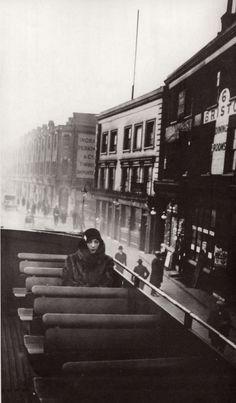 Bibi, on the bus, London, England, United Kingdom, 1926, photograph by Jacques Henri Lartigue.