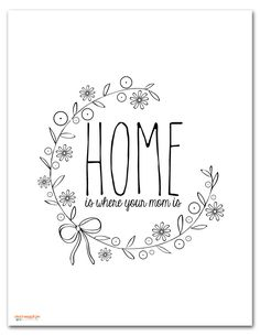 home is where your mom is hoop pattern. Hand Embroidery Patterns Flowers, Hand Embroidery Videos, Embroidery Alphabet, Simple Embroidery, Learn Embroidery, Hand Embroidery Designs, Embroidery Art, Embroidery Stitches, Couture