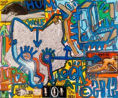 Planche originale de bande dessinée, galerie Napoléon  : STREET ART - Lupus 3 - Oeuvre originale sur toile de TAREK et PIOC Street Art -
