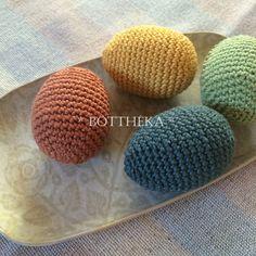 Crocheted eggs Eggs, Crochet, Mini, Egg, Ganchillo, Crocheting, Knits, Chrochet, Egg As Food