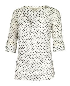 Megan Butterfly Print Popover at Fat Face