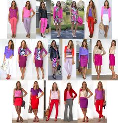 red pink purple outfit ideas