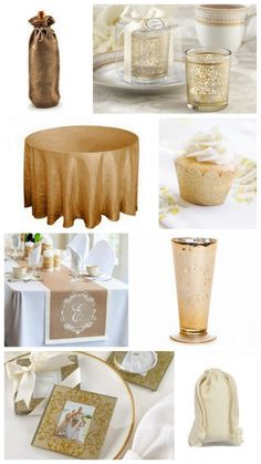Champagne, gray, & Gold Wedding Color Palette.