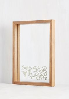 Can-View Attitude Mirror. Positivity starts from inside, but giving yourself a pep talk in this mirror sure doesnt hurt your cause! Room Decor, Decor, Decorative Accessories, Home Accessories, Frames On Wall, House Warming Gifts, Mirror, Workspace Inspiration, Home Gifts