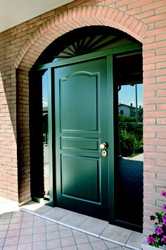 Entrance door with glass