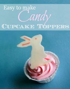 How to make Candy Cupcake Toppers - Easy Tutorial #Easter #Spring