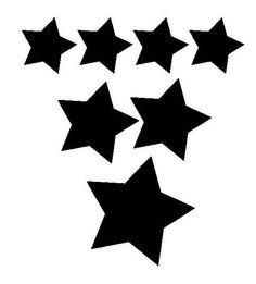 Lot étoiles (couleurs au choix) en flex thermocollant