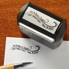 Amazon.com: Personalized Return Address Stamp - Lovely Swirls: Office Products