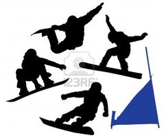 silhouette of snowboarder - Google Search