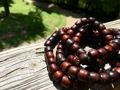 10mm Bone Crow Beads, Handcrafted Red Brown Amber Color, Native Tribal Boho…