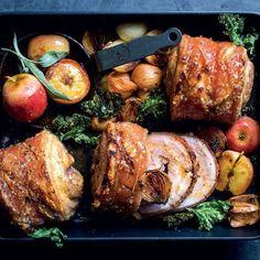 Taste Mag | Roast pork belly with cider, apple and sage @ https://taste.co.za/recipes/roast-pork-belly-cider-apple-sage/