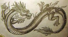 Chinese Dragon Tattoo Design by ~vampuricreason on deviantART