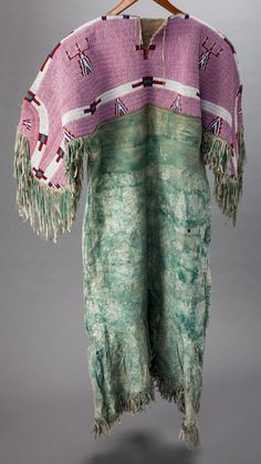 American Indian Art:Beadwork and Quillwork, A SIOUX BEADED HIDE DRESS. c…