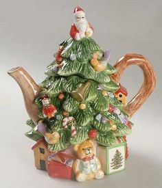 A Christmas Tree Teapot
