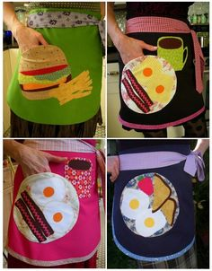 Funny food aprons