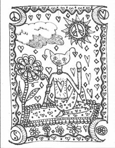 Yoga Kitties Coloring Book Color And Meditate Its Good For You Peace Love Art