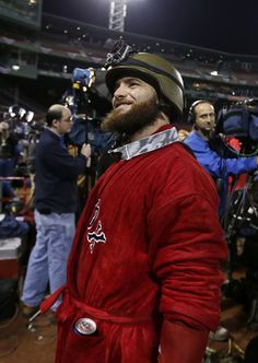 Boston Red Sox's Jonny Gomes celebrates after the Red Sox beat the Detroit Tigers 5-2 in Game 6 of the American League baseball championship...