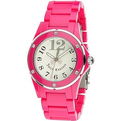 Juicy Couture Women's Rich girl Quartz Pink Band Silver Dial