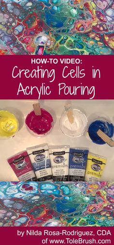 HOW-TO: Create large cells on your acrylic pouring canvases using Americana Premium Acrylics.