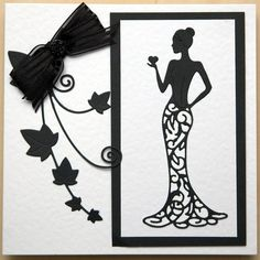 Photo in Die cut and embossed cards 21st Birthday Cards, Special Birthday, Handmade Birthday Cards, Art Deco Cards, Tattered Lace Cards, Lace Art, Homemade Greeting Cards, Dress Card, Embossed Cards