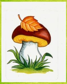 VK is the largest European social network with more than 100 million active users. Rock Crafts, Fall Crafts, Crafts For Kids, Mushroom Crafts, Mushroom Art, Autumn Painting, Autumn Art, Leaf Coloring, Coloring Pages