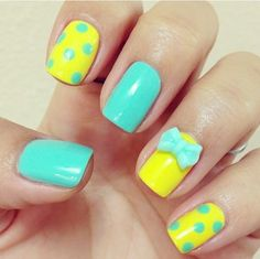 Colorful nail for summer