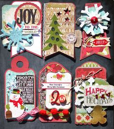 It's beginning to looka lot like Christmas  it might be getting a little closer to Christmas. Who cares if we haven't had Thanksgiving yet... Christmas Paper Crafts, Christmas Gift Tags, Christmas Bells, All Things Christmas, Christmas Themes, Handmade Christmas, Holiday Cards, Christmas Holidays, Christmas Layout