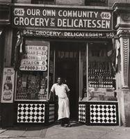 """Aaron Siskind Am. 1903-1991 """"Harlem Document, Man in Deli Doorway 1940"""""""