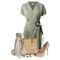 """Olive & Nude for Office"" by simona-risi on Polyvore"