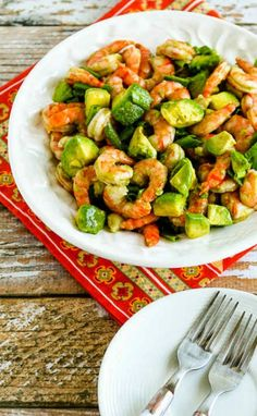 Easy Paleo Shrimp and Avocado Salad is also low-carb and gluten-free and you can make it in minutes! [found on KalynsKitchen.com]