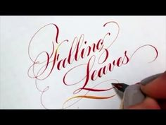 Modern Script Calligraphy and Flourishing compilation by Kei Goodman - YouTube