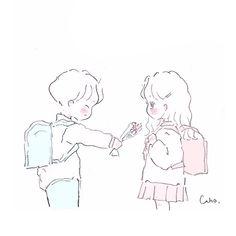 Manga Art, Anime Art, Cute Easy Drawings, Cute Love Cartoons, Couple Cartoon, Cartoon Art Styles, Kawaii Art, Pretty Art, Anime Chibi
