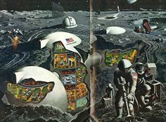 Lunar Pioneers Dig In On The Moon (National Geographic, Febraury 1969) by Davis Meltzer (1) | Flickr - Photo Sharing!