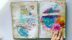 """""""Sharing a peek into my """"big"""" Art Marks Journal. I rarely work big anymore unless it's on a canvas,…"""""""
