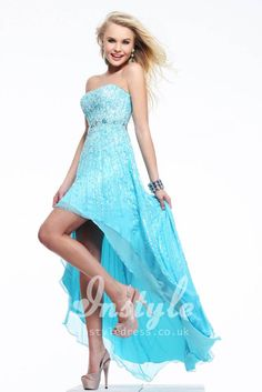 lovely silver sparkly sequin 21st birthday high low party dresses ...