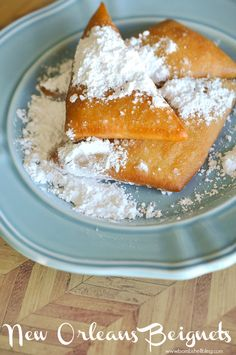 Our family has been making these beignets for special mornings for years! Our family has been making these beignets for special mornings for years! Just Desserts, Delicious Desserts, Dessert Recipes, Yummy Food, Breakfast Recipes, Breakfast Ideas, Recipes With Yeast, Cooking Recipes, Donut Recipes