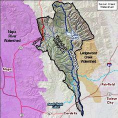 Suisun Creek Map