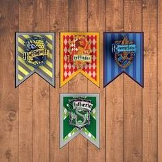 "BIG Harry Potter House Banners 18x24"" Instant Downloadable Printable Decorations"