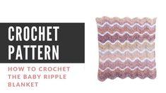 How to Change Yarn in Crochet - Easy Crochet Picot Crochet, Crochet Ripple Blanket, Chevron Blanket, Crochet Stitches, Crochet Beanie Pattern, Afghan Crochet Patterns, Crocheting Patterns, Scarf Crochet, Headband Pattern