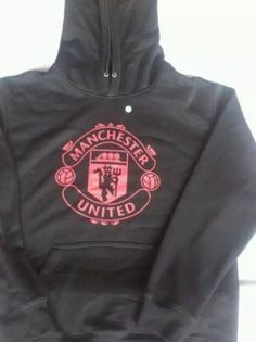 15-16 Season Manchester United Black Hoody Sweater [E708]