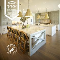 """This inviting space was voted the 2015 People's Choice """"Best Kitchen""""!  It's every chef's dream, really. #mcewancustomhomes #smalldetailsbigdifference #home #homebuilder #homebuilding #homedesign #design #newhome #newcconstruction #custom #custombuilder #customhomes #customdesign #utahhomes #utahvalley"""