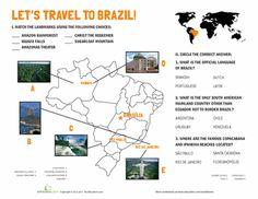 Worksheets: Brazil Landmarks