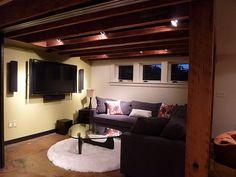 garage loft basements and ceilings on pinterest basement lighting track lighting track