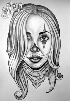 27 best gangster girl tattoo drawings images in 2017 Angel Tattoo Designs, Tattoo Designs For Girls, Best Tattoo Designs, Tattoo Sleeve Designs, Girls With Sleeve Tattoos, Girl Tattoos, Tattoos For Women, Chicano Drawings, Tattoo Drawings