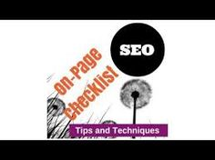 On page SEO techniques & On page optimization is the one of the very most and first step of SEO which is every webmaster should look.