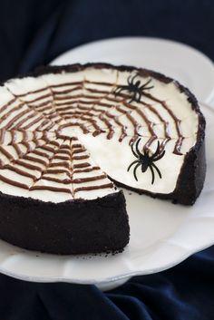 No-Bake Spiderweb Cheesecake