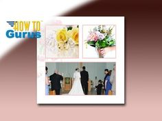 How to Design a Wedding Album Page Layout in Adobe Photoshop Elements 15 14 13 12 11 Tutorial
